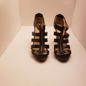 Nine West Platform Front Gold Zipper